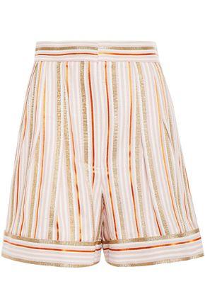 PETER PILOTTO Metallic striped jacquard shorts