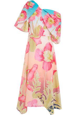 PETER PILOTTO Draped floral-print cotton-poplin dress