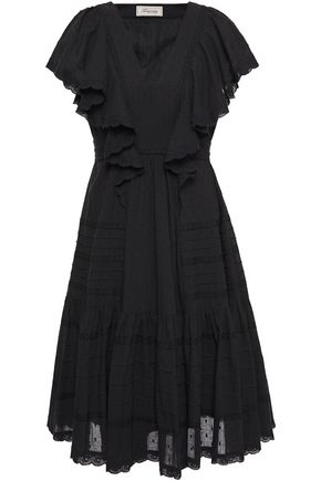TEMPERLEY LONDON Beaux broderie anglaise-trimmed ruffled Swiss-dot cotton dress