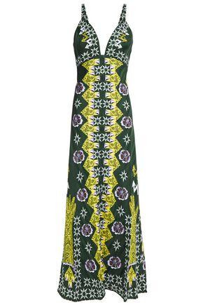TEMPERLEY LONDON Flux printed satin-jacquard midi slip dress