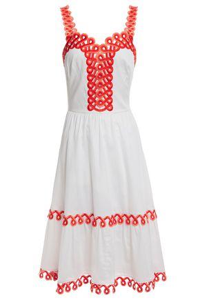 TEMPERLEY LONDON Boheme embroidered cotton-poplin dress