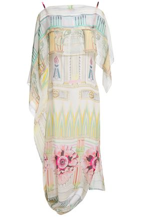 TEMPERLEY LONDON Athena draped printed silk-chiffon dress