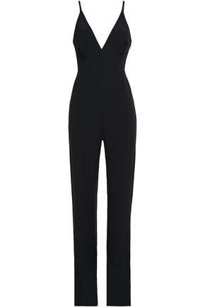 JENNY PACKHAM Shirred satin-crepe jumpsuit