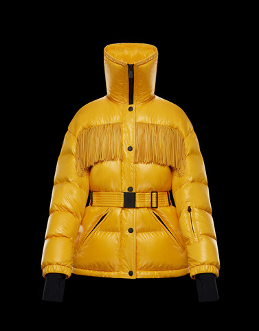 ORBEILLAZ Yellow Short Down Jackets Woman