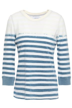 CURRENT/ELLIOTT The Poolboy bleached striped cotton-jersey top