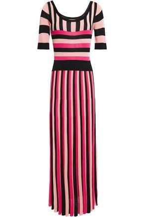 TEMPERLEY LONDON Striped intarsia-knit midi dress