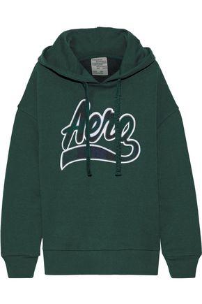BAUM UND PFERDGARTEN Jaryn appliquéd French cotton-blend terry hoodie