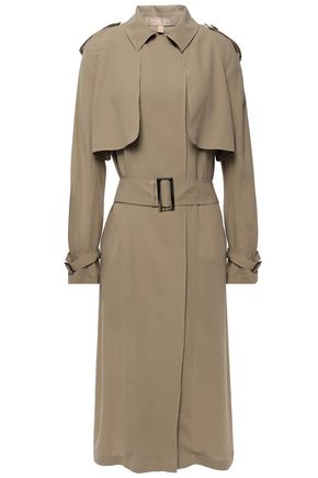 MICHAEL KORS COLLECTION Belted silk-crepe trench coat