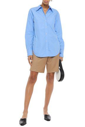 A.l.c T-shirts A.L.C. WOMAN COTTON-POPLIN SHIRT LIGHT BLUE