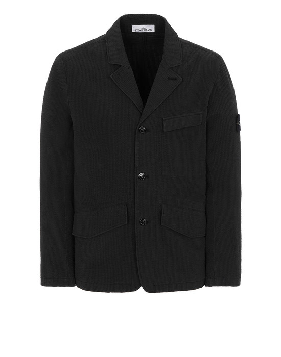 STONE ISLAND 80141 SEERSUCKER CO-TC Suit Man Black