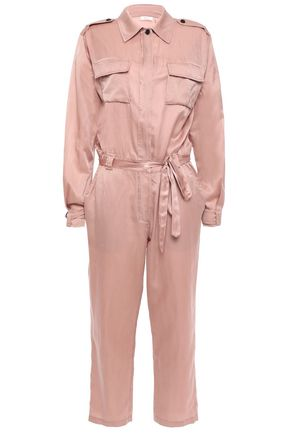A.L.C. Jeter cropped cotton and silk-blend satin jumpsuit