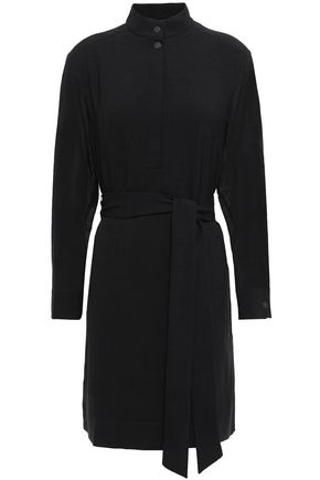 CEFINN Belted gauze mini dress
