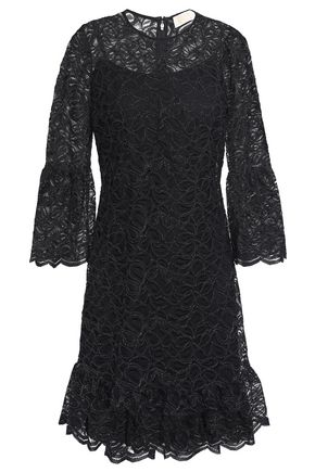 MICHAEL MICHAEL KORS Metallic corded lace mini dress