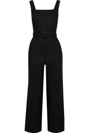 IRIS & INK Allium belted linen-gauze jumpsuit