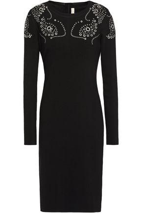 MICHAEL MICHAEL KORS Eyelet-embellished stretch-knit dress