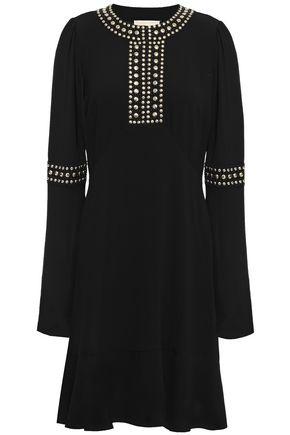 MICHAEL MICHAEL KORS Studded crepe dress