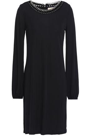 MICHAEL MICHAEL KORS Chain-embellished jersey mini dress