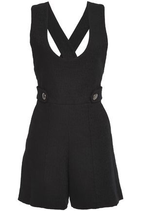 VANESSA BRUNO Cutout button-embellished cotton-blend tweed playsuit