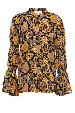 MICHAEL MICHAEL KORS Layered printed cloqué blouse