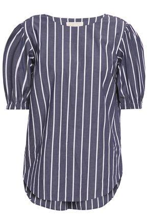 MICHAEL MICHAEL KORS Striped stretch-cotton poplin top