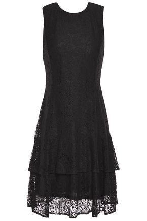 MICHAEL MICHAEL KORS Tiered cotton-blend lace dress
