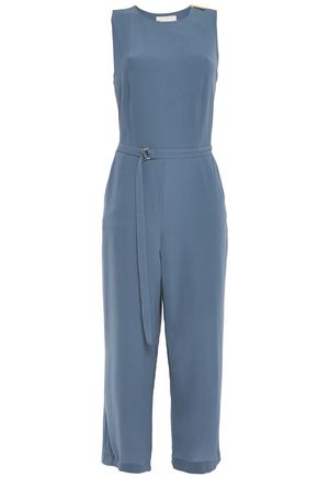 MICHAEL MICHAEL KORS Cropped belted stretch-crepe jumpsuit