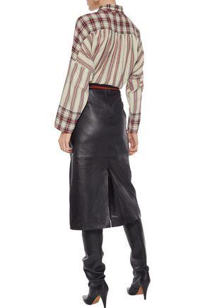 MES DEMOISELLES Ternoc gathered striped cotton shirt