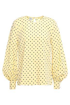 BAUM UND PFERDGARTEN Mandee polka-dot stretch cotton-poplin blouse