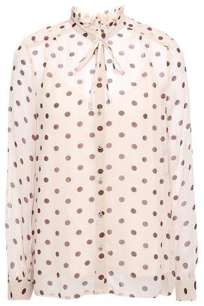 BAUM UND PFERDGARTEN Modesty pussy-bow polka-dot crepon blouse