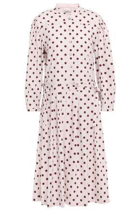 BAUM UND PFERDGARTEN Polka-dot stretch-cotton dress