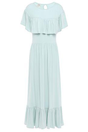 BAUM UND PFERDGARTEN Jannie ruffle-trimmed gathered stretch-modal maxi dress