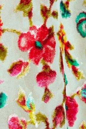 MES DEMOISELLES Alex floral-print devoré-velvet camisole