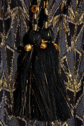 MES DEMOISELLES Botys metallic fil coupé cotton-blend blouse
