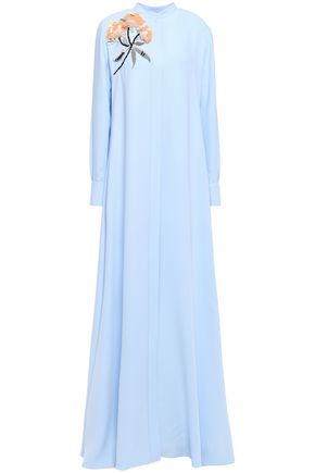 CAROLINA HERRERA Embellished silk-cady gown