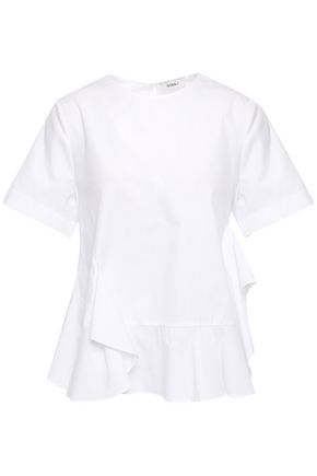 GOEN.J Ruffled cotton-poplin blouse