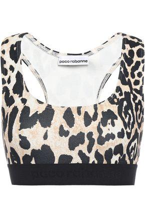 PACO RABANNE Leopard-print stretch-jersey sports bra