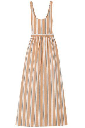 BROCK COLLECTION Oriana striped cotton-blend maxi dress