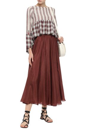 MES DEMOISELLES Tisha embroidered printed cotton blouse