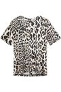 PACO RABANNE Cutout leopard-print stretch-jersey top