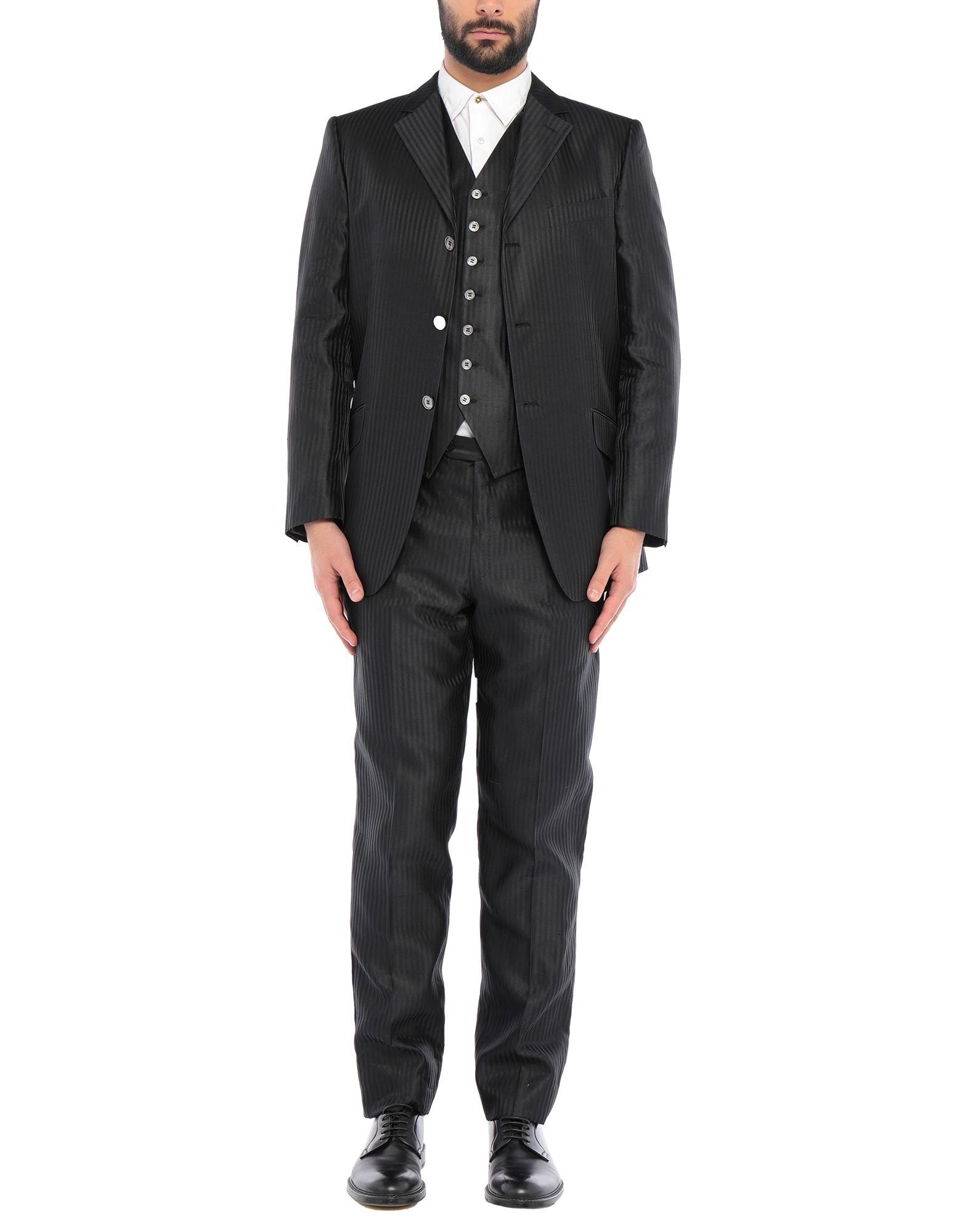 《セール開催中》PAL ZILERI CERIMONIA メンズ スーツ ブラック 54 シルク 100%