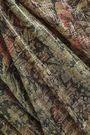MES DEMOISELLES Metallic printed silk-chiffon blouse