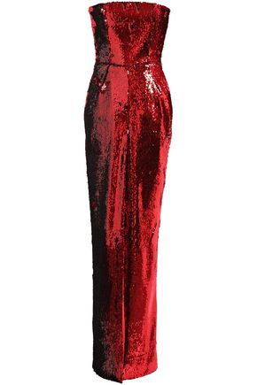 ALEXANDRE VAUTHIER Strapless sequined woven gown
