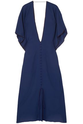 ROLAND MOURET Adamson open-back wool-crepe midi dress
