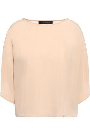 SALLY LAPOINTE Draped woven blouse