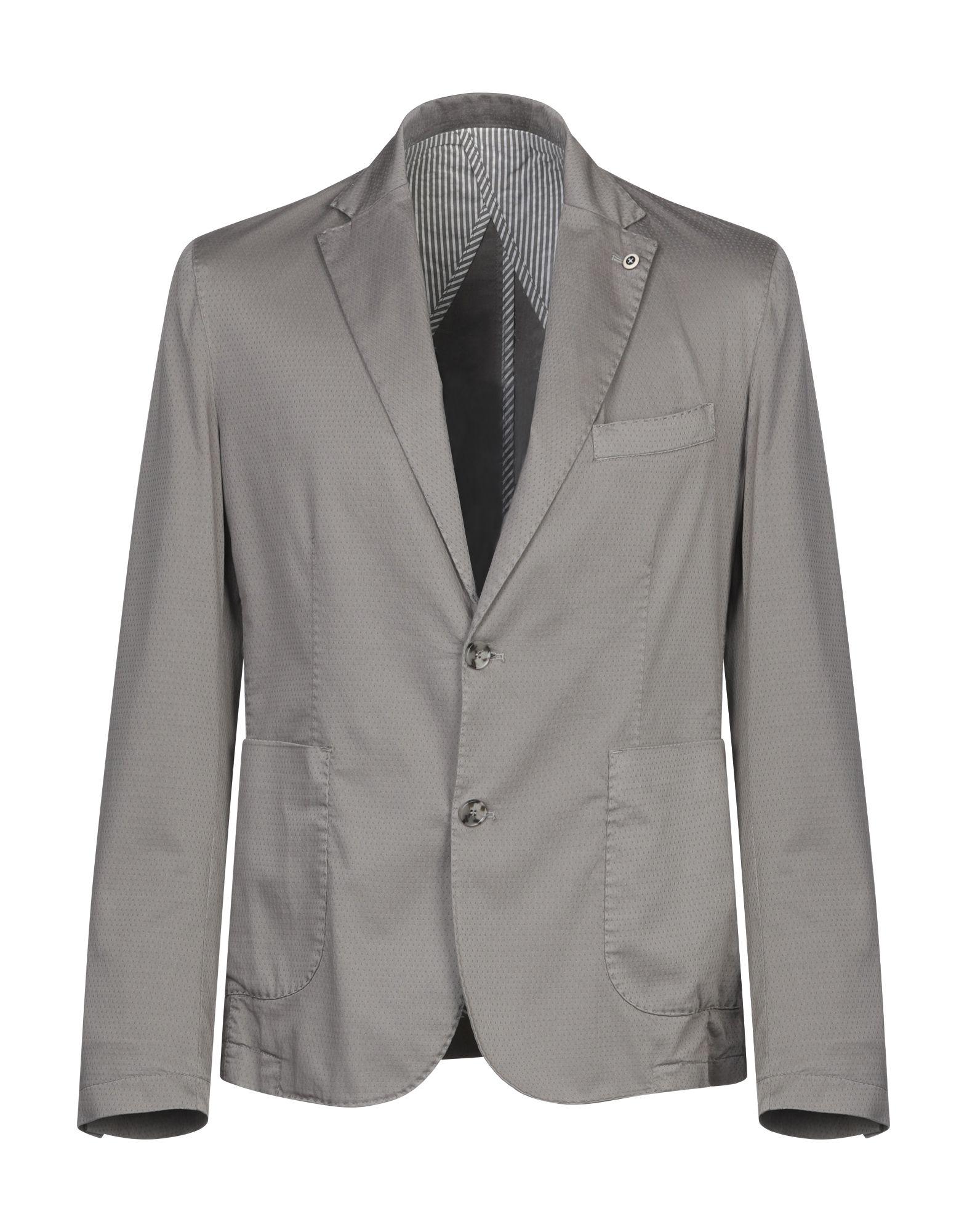 《セール開催中》PHIL GREY メンズ テーラードジャケット グレー 50 コットン 98% / ポリウレタン 2%