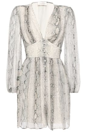 ZIMMERMANN Floral-print silk-georgette playsuit