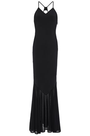 ALEXANDRE VAUTHIER Open-back fluted ponte gown