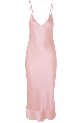 LEE MATHEWS Rose silk-satin midi slip dress