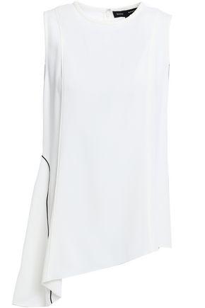PROENZA SCHOULER Asymmetric satin-crepe peplum blouse