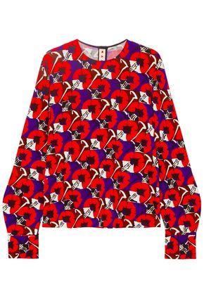 MARNI Floral-print jersey blouse